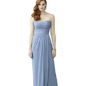 Dessy Lux Shimmer Chiffon Bridesmaid Dress Ruched